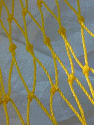 Оградительная сеть 50мм*2,8мм*39яч из полиэтилена желтого цвета