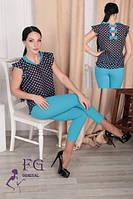 Женский батальный костюм «Тринити»  50-54 размеры голубой, 50, фото 1