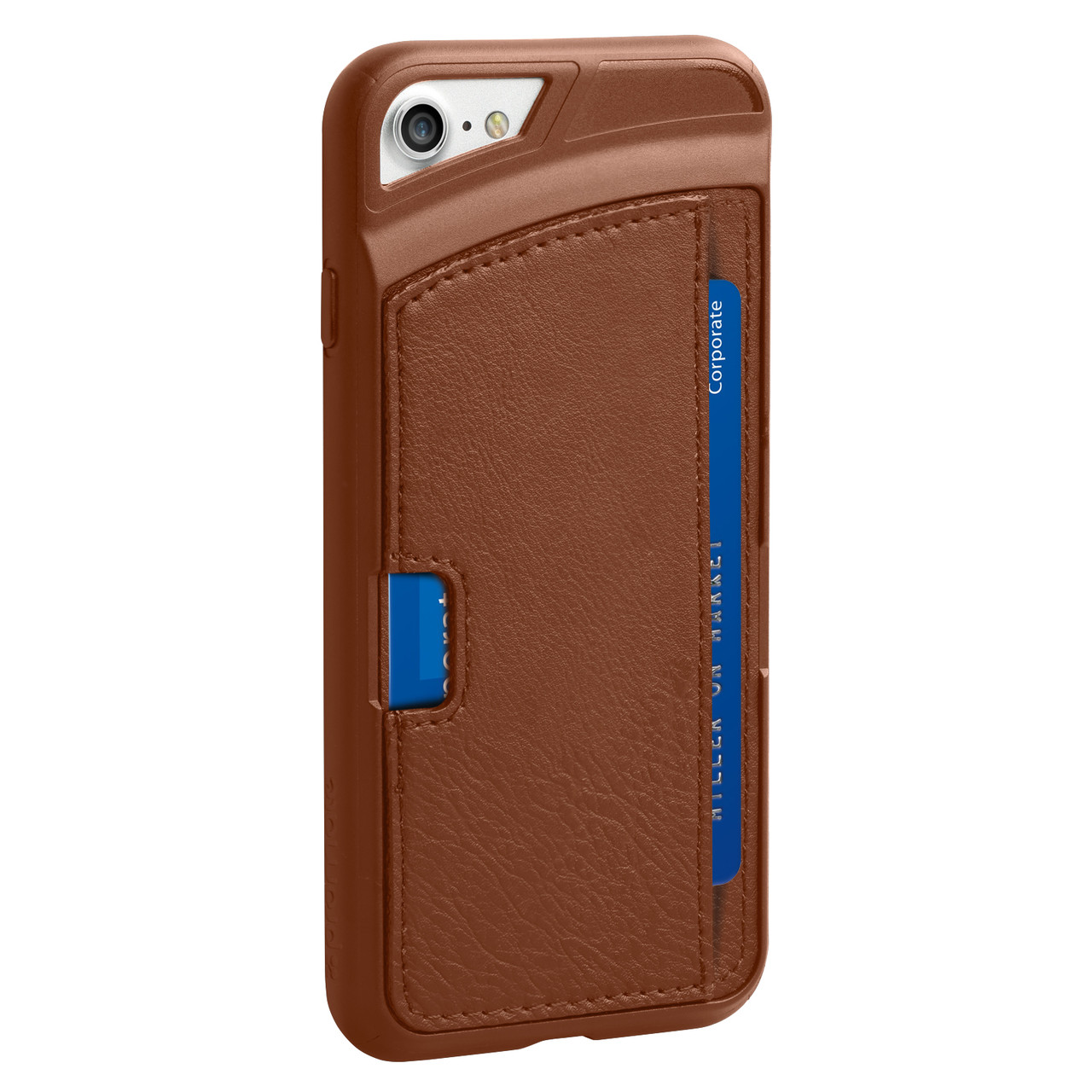 Кожаный защитный чехол для iPhone 7 Promate Wallet-X Brown