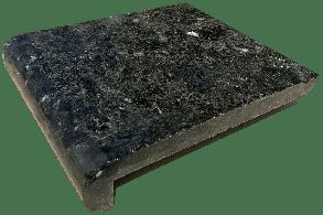 Копинговый камень из Гранита - Черный 28 х 100 см. Бортовой камень для бассейна.