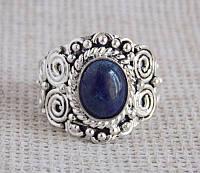 Кольцо с лазуритом 18.5 размера под серебро