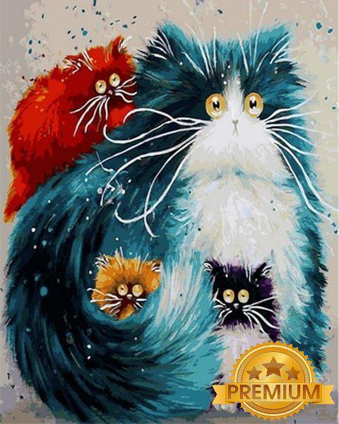 Картини за номерами 40×50 див. Babylon Premium (кольоровий полотно + лак) Виховання дітей Художник Кім Хаскінс