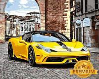 Картины по номерам 40×50 см. Babylon Premium (цветной холст + лак) Феррари 458, фото 1