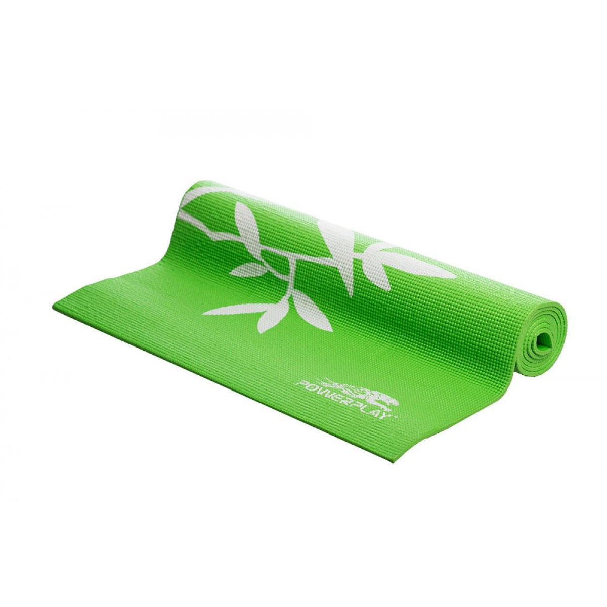 Мат для йоги 173*61*0,6 см PowerPlay / 4011 / зеленый