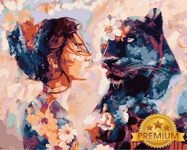 Картины по номерам 40×50 см. Babylon Premium Ночная красавица Художник Димитра Милан