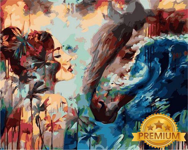 Картины по номерам 40×50 см. Babylon Premium (цветной холст + лак) Отдаленные приливы Художник Димитра Милан