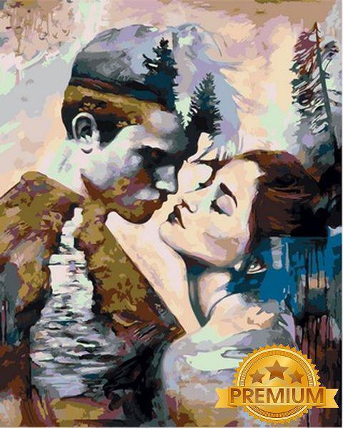 Картины по номерам 40×50 см. Babylon Premium (цветной холст + лак) Неизменный взгляд Художник Димитра Милан