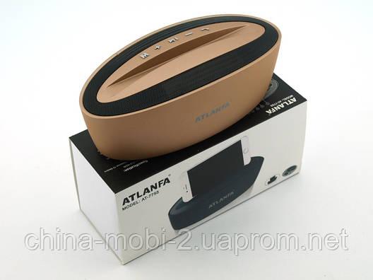 Акустика Atlanfa AT-7755 5W з підставкою, золота, фото 2
