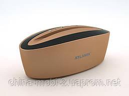 Акустика Atlanfa AT-7755 5W з підставкою, золота, фото 3