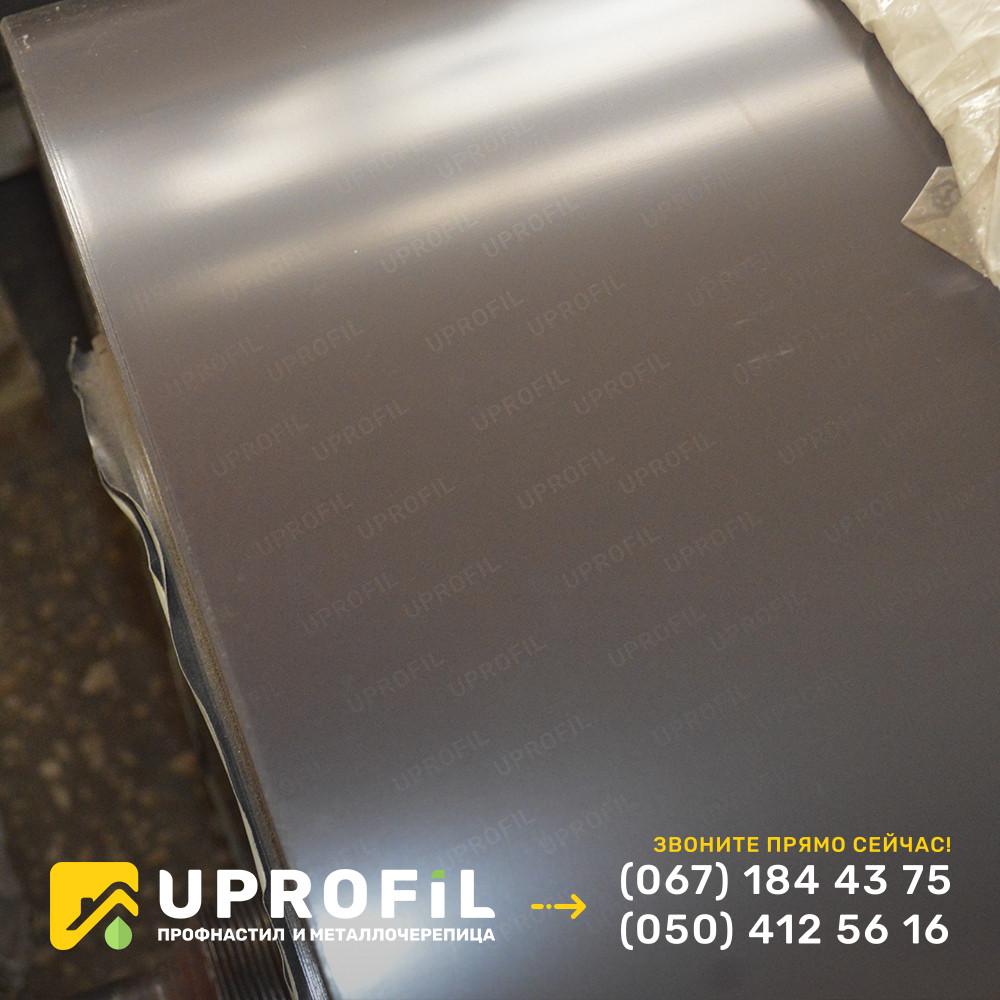Профнастил ПС10 Темно-коричневый RAL 8019  глянец 0.45 Украина
