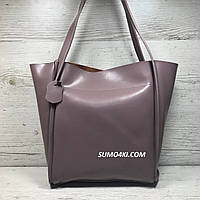Женская кожаная сумка с длинными ручками, фото 1