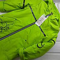 ✔️Куртка удлиненная для девочки с капюшоном  Куртка демисезонная для девочки РаспродажаРазмер  134