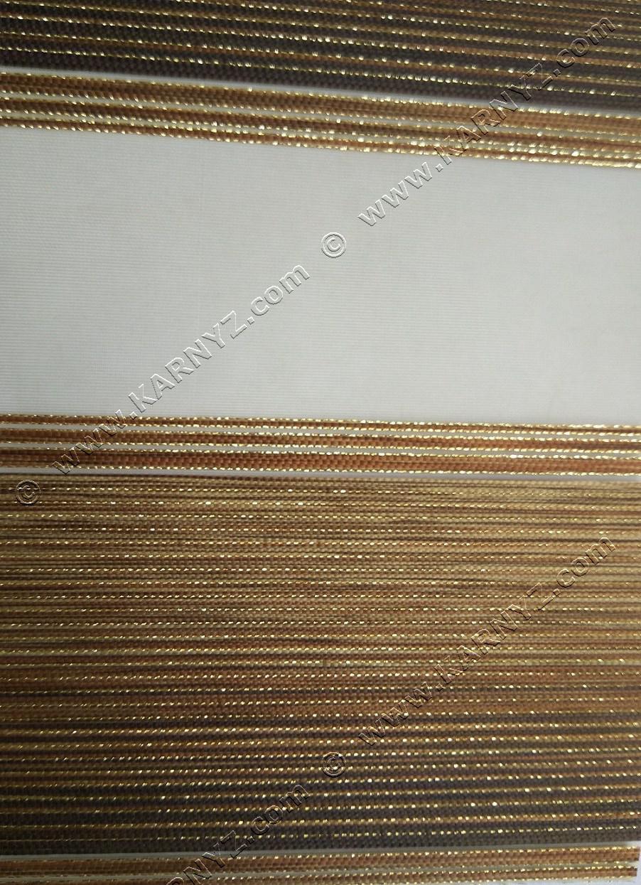 Рулонные шторы День-Ночь Дольче C-812 коричневый блеск