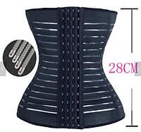 Пояс-корсет корректирущий, с металлическими вставками, чёрный, фото 1