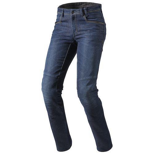 Джинсовые брюки Revit Seatle р.34 L34 (с кевларовыми вставками) текстиль dark blue