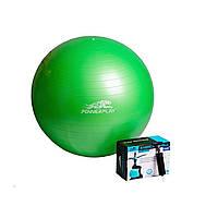 Мяч гимнастический 75 см + насос PowerPlay / 4001 / зеленый