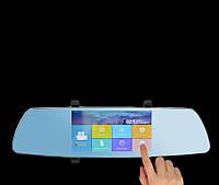 """Зеркало - видеорегистратор 5"""" дюймов с сенсорным экраном и видеопарковкой"""
