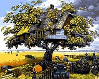 Картины по номерам 40×50 см. Дом на дереве, фото 1