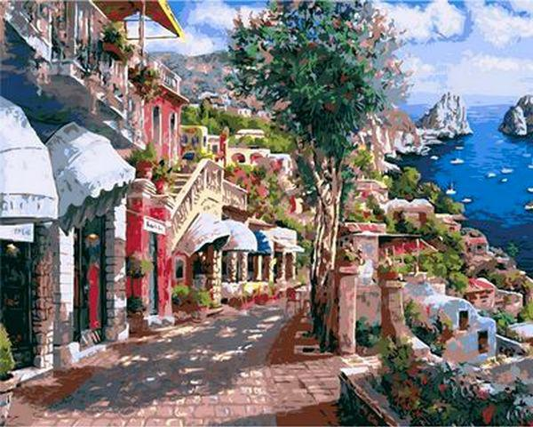 Картины по номерам 40×50 см. Итальянский пейзаж Художник Сун Сэм Парк