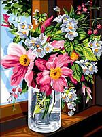 Картины по номерам 30×40 см. Утренние цветы, фото 1