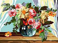 Картины по номерам 30×40 см. Букет в вазе, фото 1