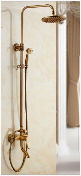 Стойка в ванную комнату с верхним душем и ручной лейкой 5-015