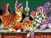 Картины по номерам 30×40 см. Охота на бабочек, фото 1