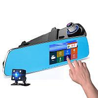 """Зеркало - видеорегистратор 5"""" дюймов с видеопарковкой и камерой заднего вида. Модель ЕА650"""