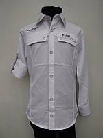 Рубашка для мальчика 128 роста Белая