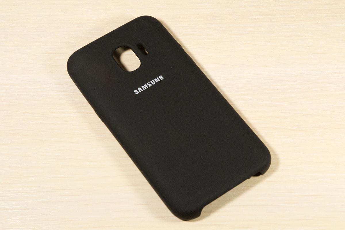 Оригинальный чехол для Samsung Galaxy J2 2018 j250 Silicone Cover (Черный)
