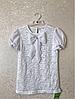 Нарядная школьная блузка на девочку Зайка