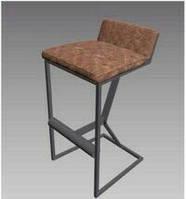 Барный стул в Стиле Лофт, Кожаный барный стул