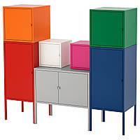 ✅ IKEA LIXHULT (492.488.58) Шкаф, czerwony/pomaranczowy/szary rozowy/белый, синий/зеленый