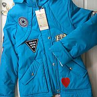 Демисезонная куртка для девочки удлиненная  Распродажа Размер 122-128
