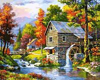 Картины по номерам 40×50 см. Старая мельница, фото 1
