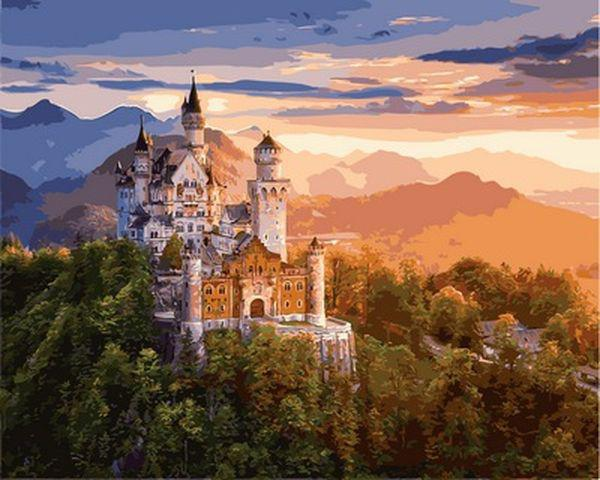 Картины по номерам 40×50 см. Замок Нойшванштайн