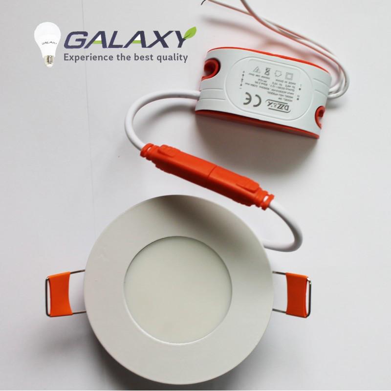Светильник LED круг белый 3 Вт врезной металл GALAXY LED