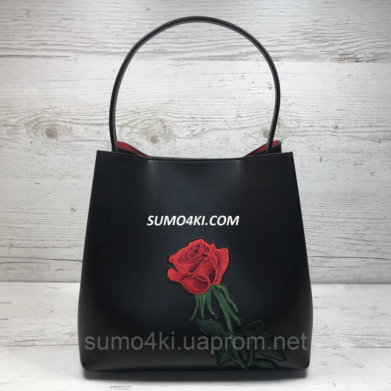7590cd074334 Купить Женскую кожаную сумку Италию с вышивкой оптом и в розницу в ...