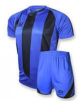 Футбольная форма Europaw 001 сине-черная ( S, XS )