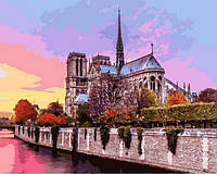 Картины по номерам 40×50 см. Собор Парижской Богоматери, фото 1