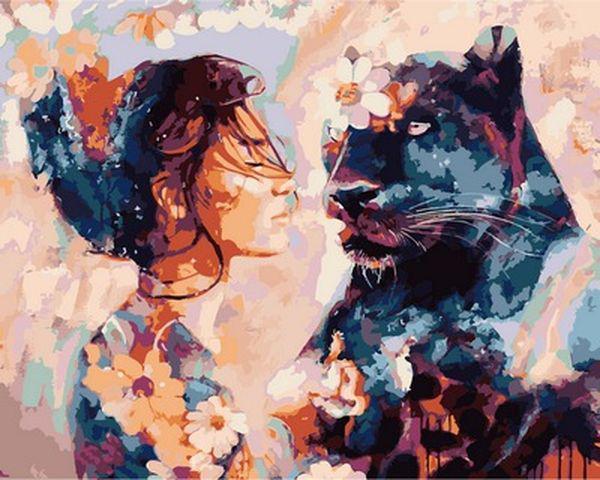 Картины по номерам 40×50 см. Ночная красавица Художник Димитра Милан