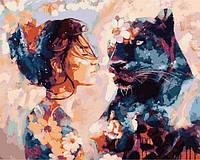 Картины по номерам 40×50 см. Ночная красавица Художник Димитра Милан, фото 1