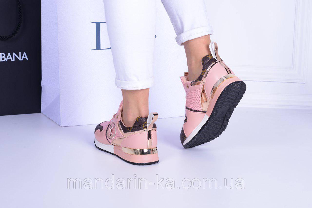 Женские  кроссовки пудра  LV (реплика)