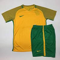 Футбольная форма Nike желто-зеленая