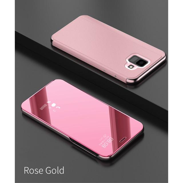 Samsung Galaxy A6 2018 A600 чехол книжка smart cover золотисто-розовый