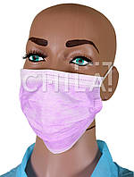Маски медицинские Розовые, трехслойные (50 шт/уп)