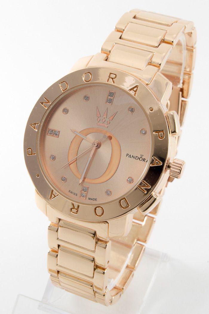 Женские наручные часы Pandora (Пандора),золотой корпусициферблат