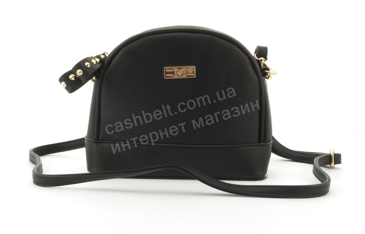 Стильный небольшая женская сумочка клатч LoveDream art. A182 черная