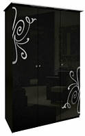 Богема (черная) Шкаф 3Д, фото 1