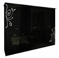 Богема (черная) Шкаф 6Д